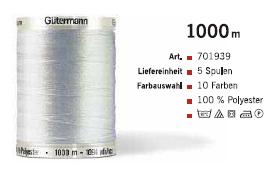 Gütermann 701939 1000m /5Sp.