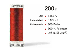 Gütermann 748277 200m /5Sp.