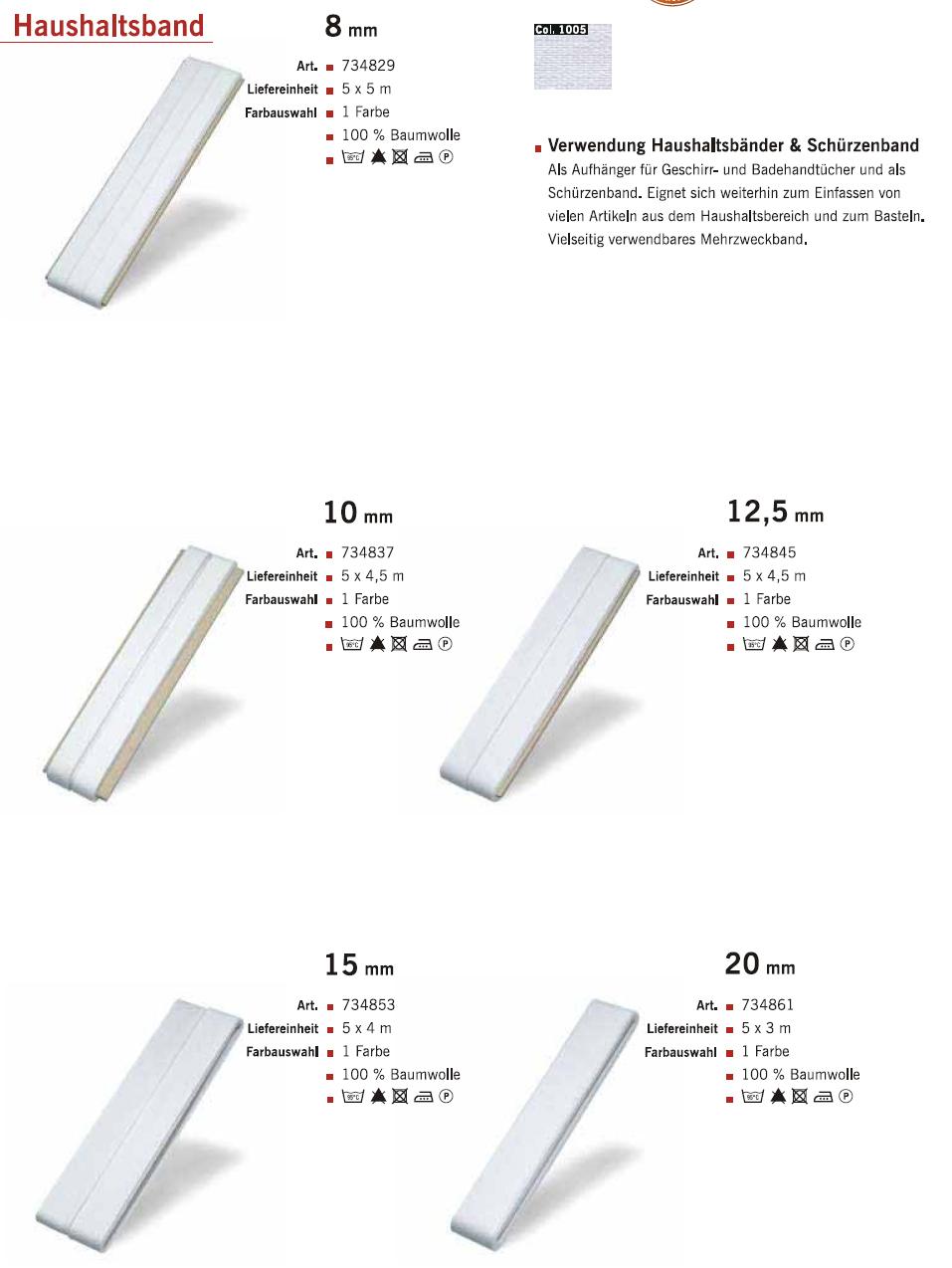 Gütermann Haushaltsband 8-20mm