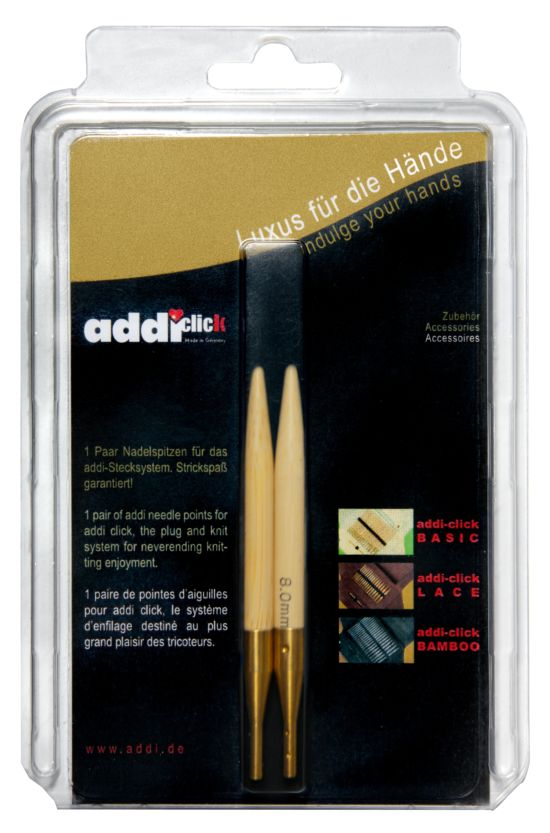 Addi 556-7 Click Bamboo Spitzen