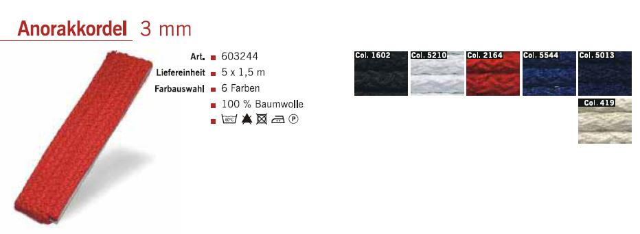 Gütermann 603244 Anorakkordel