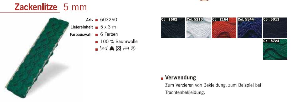 Gütermann 603260 Zackenlitze