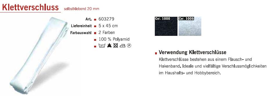 Gütermann 603279 Klettverschl.