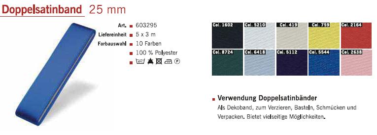 Gütermann 603295 Doppelsatinband