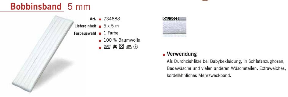 Gütermann 734888 Bobbinsband