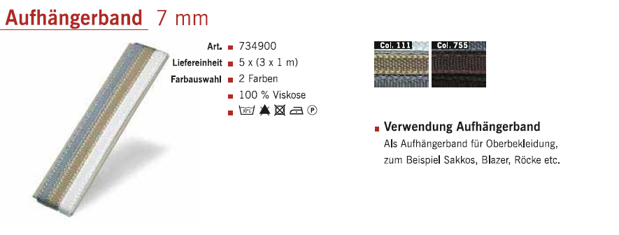 Gütermann 734900 Aufhängerband