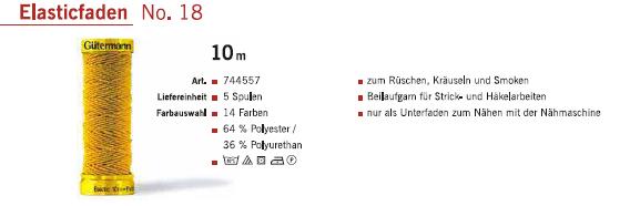 Gütermann 744557 Elasticfaden