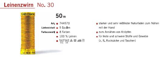 Gütermann 744573 Leinenzwirn