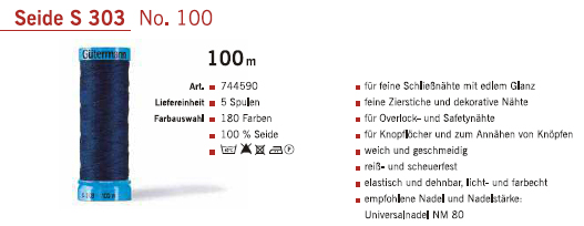 Gütermann 744590 100m/5Sp.
