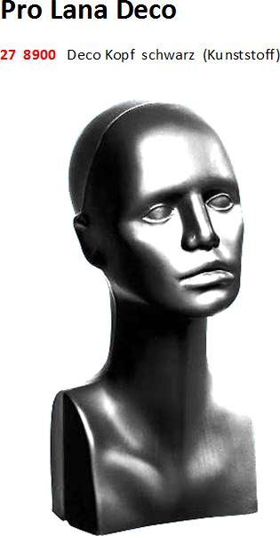 Pro Lana Deco Kopf schwarz