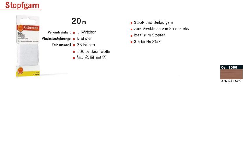 Gütermann 641529 Stopfgarn SB