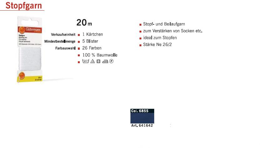 Gütermann 641642 Stopfgarn SB