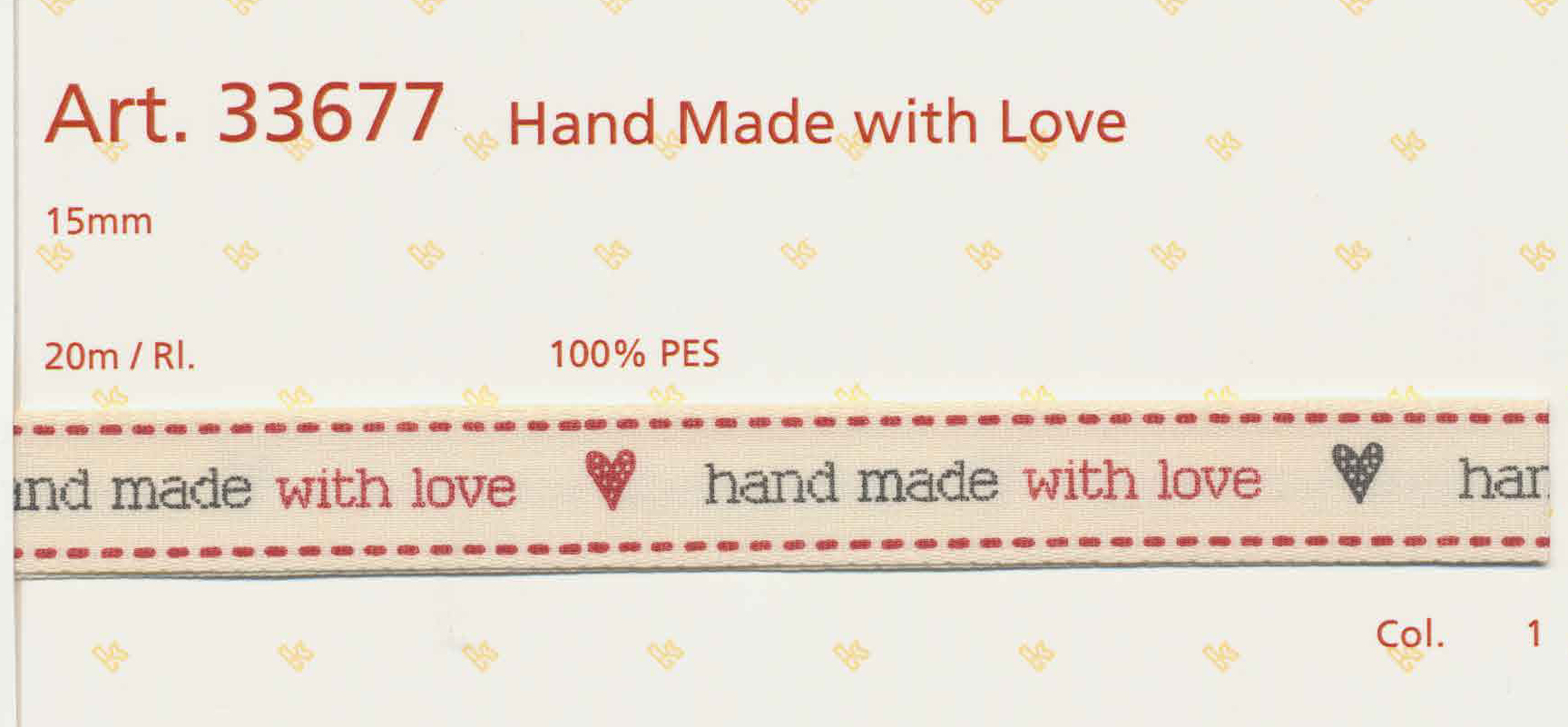 Hand Made with Love 15mm 33677