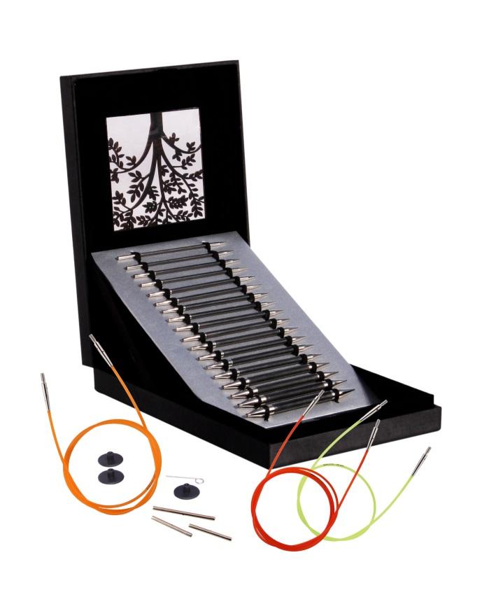 Knit Pro Karbonz Spitzen Set