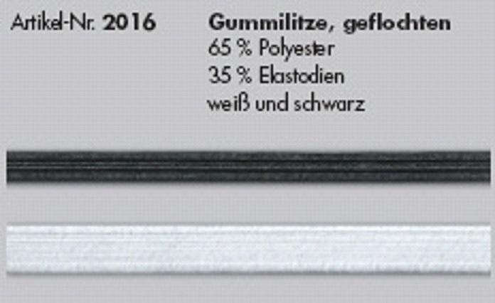 Gummilitze geflochten/ 2016