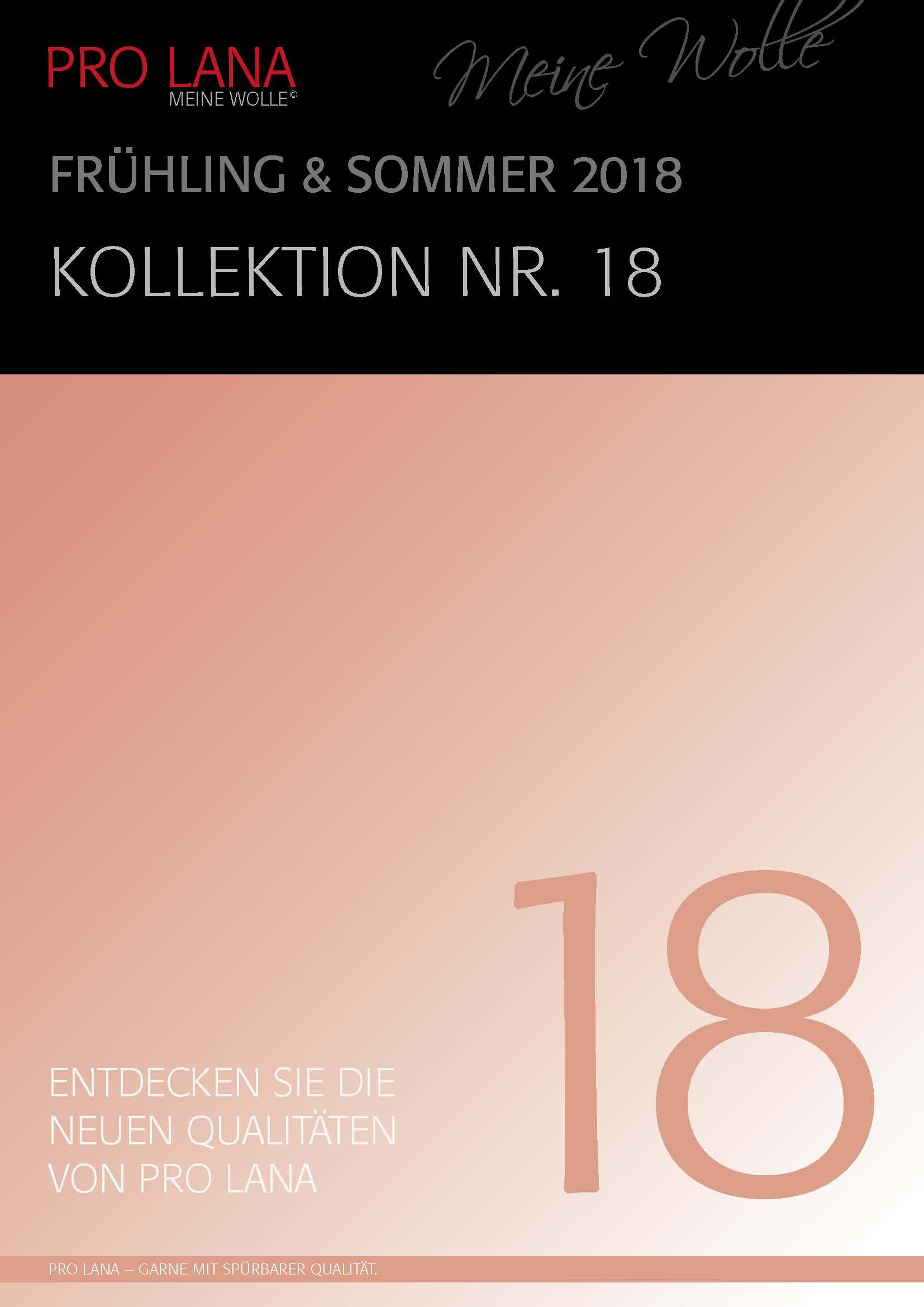 Katalog 18 Frühjahr-Sommer-Kollektion 2018