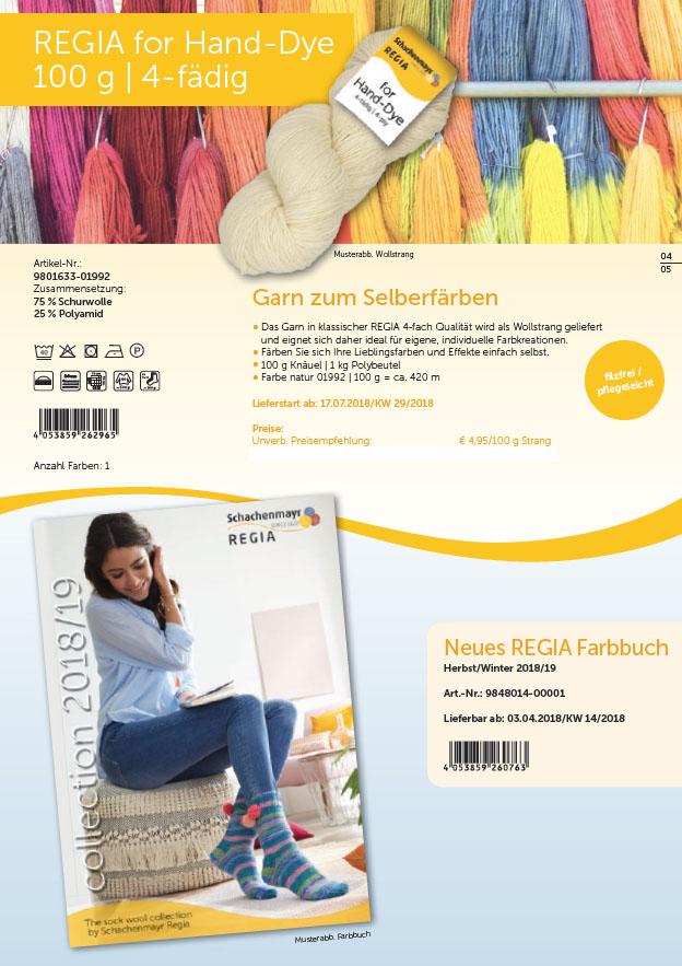 Regia for Hand-Dye 4f.100g 1kg