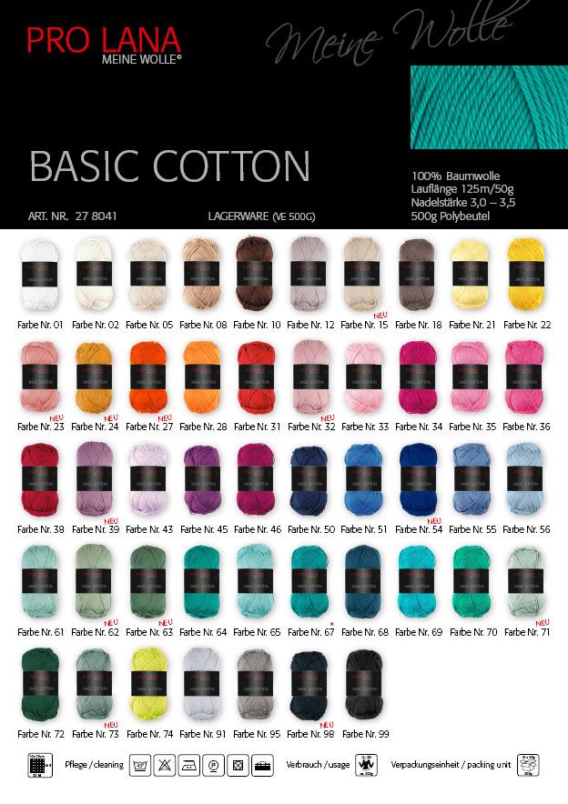 Pro Lana Basic cotton 0,5kg  50g