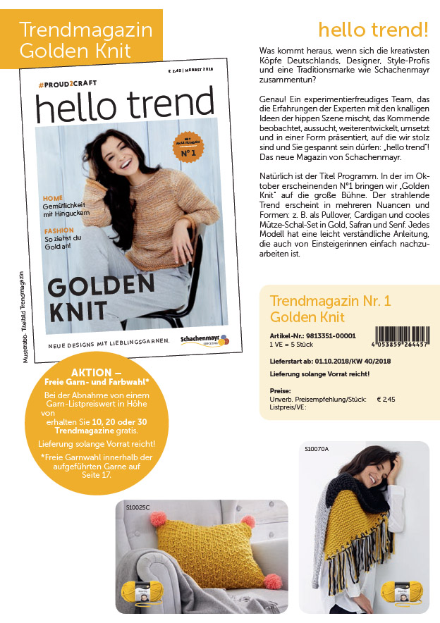 Trendmagazin Nr.1 Golden Knit