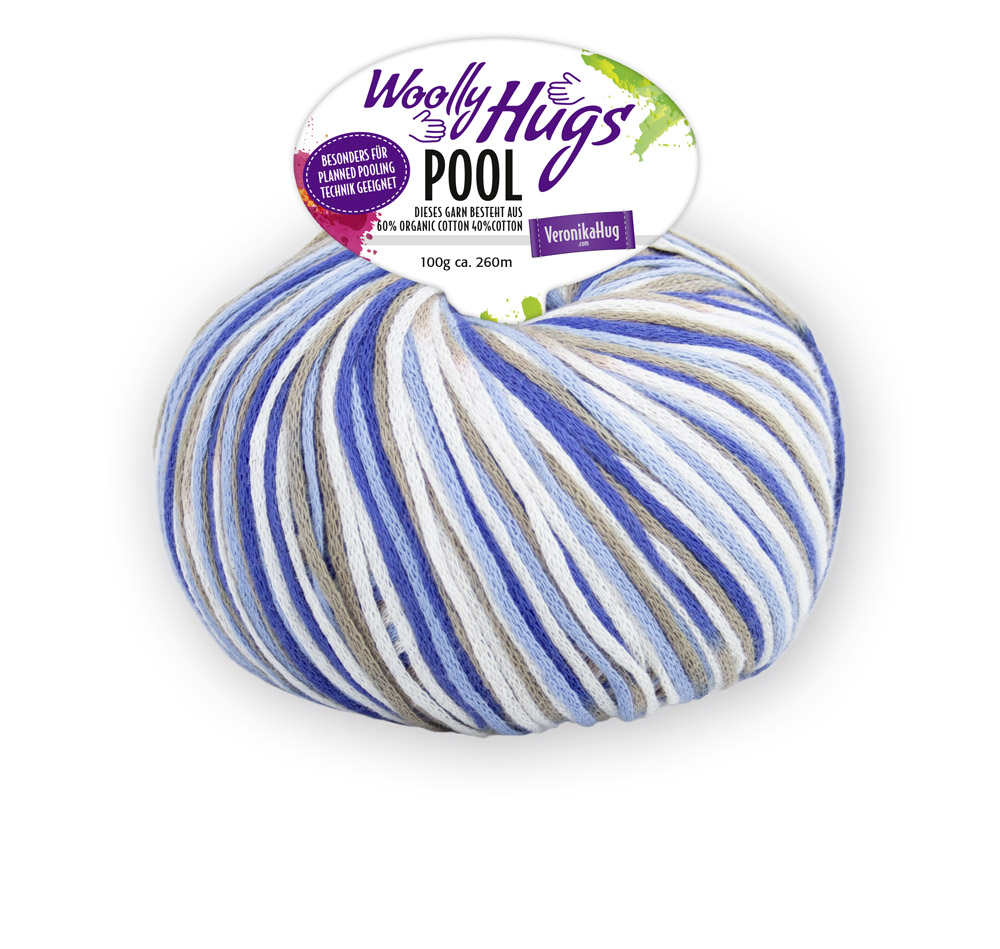Woolly Hugs POOL (B.W.) 100g 0,5kg