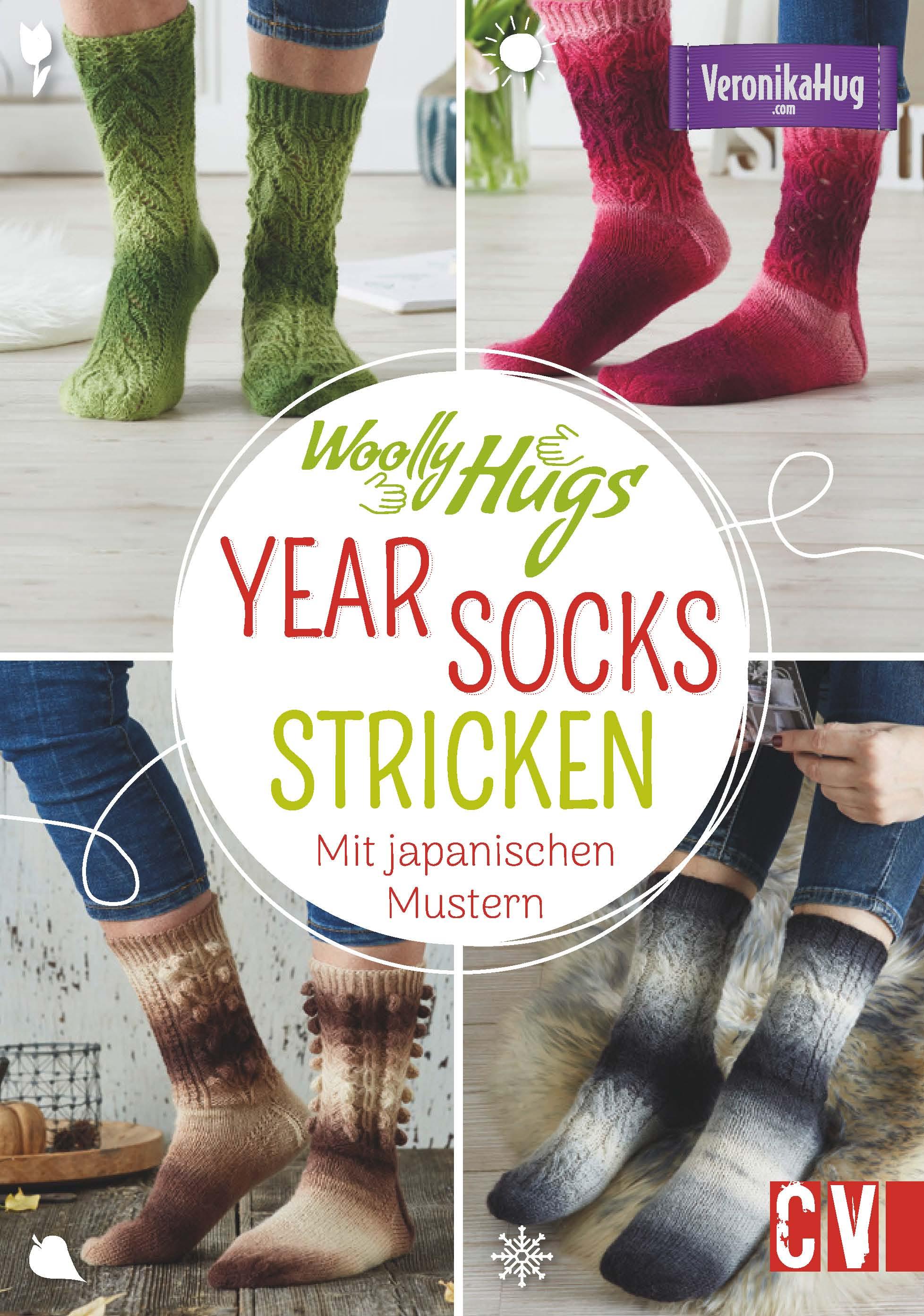 CV 6559 Wolly Hugs Year Socks stricken