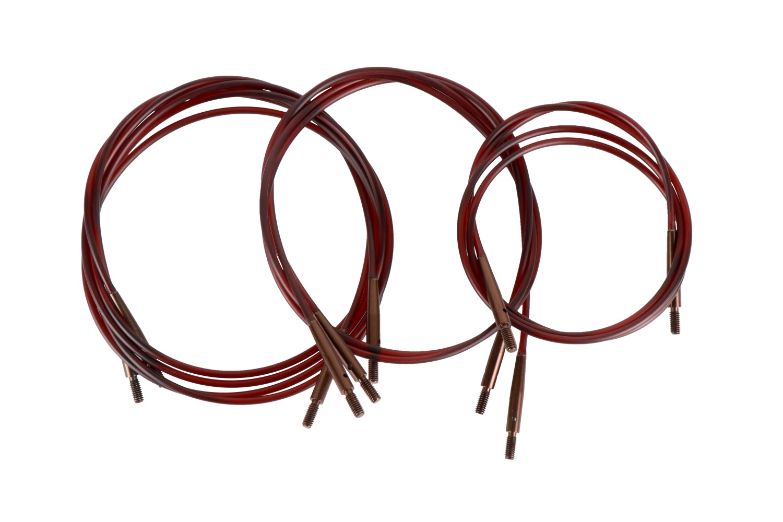 Knit Pro Seile braun, mit braunen Verschlüssen