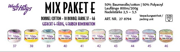 BOBBEL cotton MIX Paket E 2kg