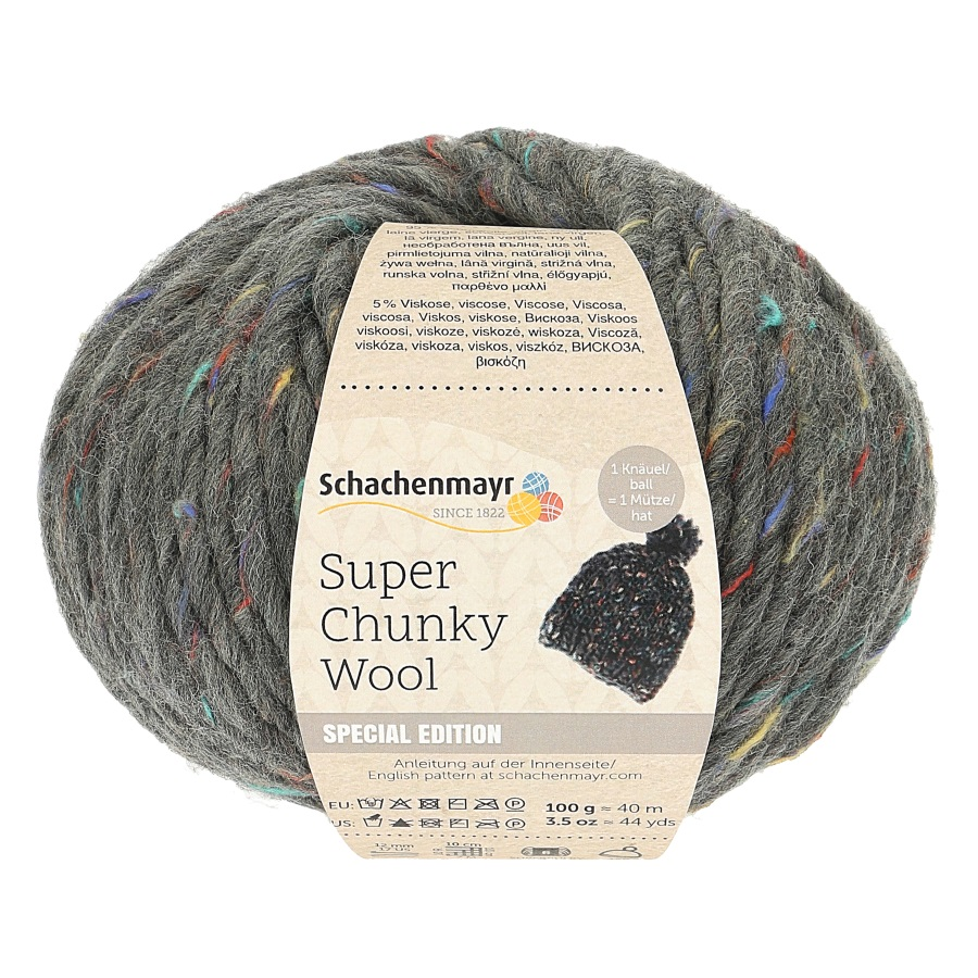 SMC Super Chunky Wool 100g. Sort. 6kg