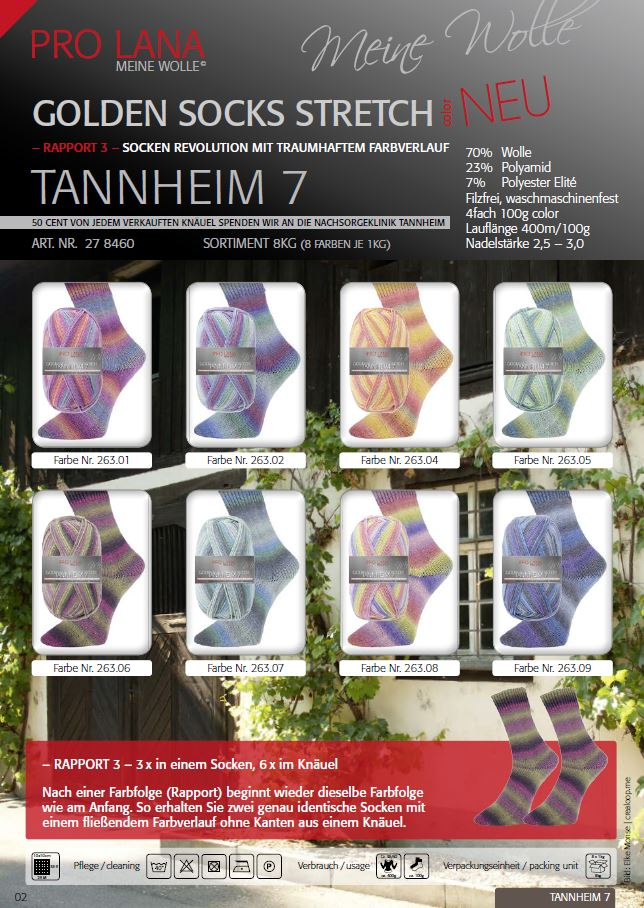 PL Golden Socks 4f 100g Stretch Tannheim 7