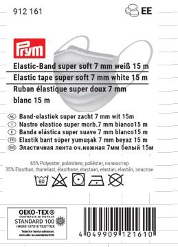 Prym 912161 Elastic-Band super soft weiß