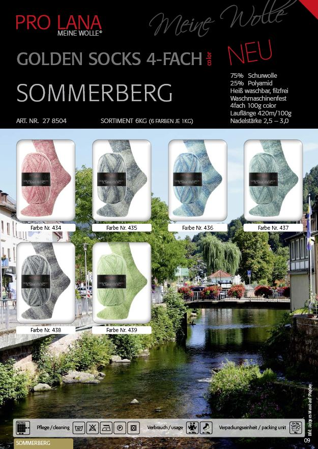 PL Golden Socks SOMMERBERG  4f. 100g