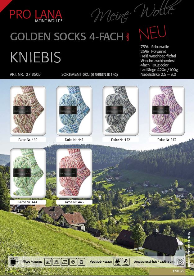 PL Golden Socks KNIEBIS  4f. 100g