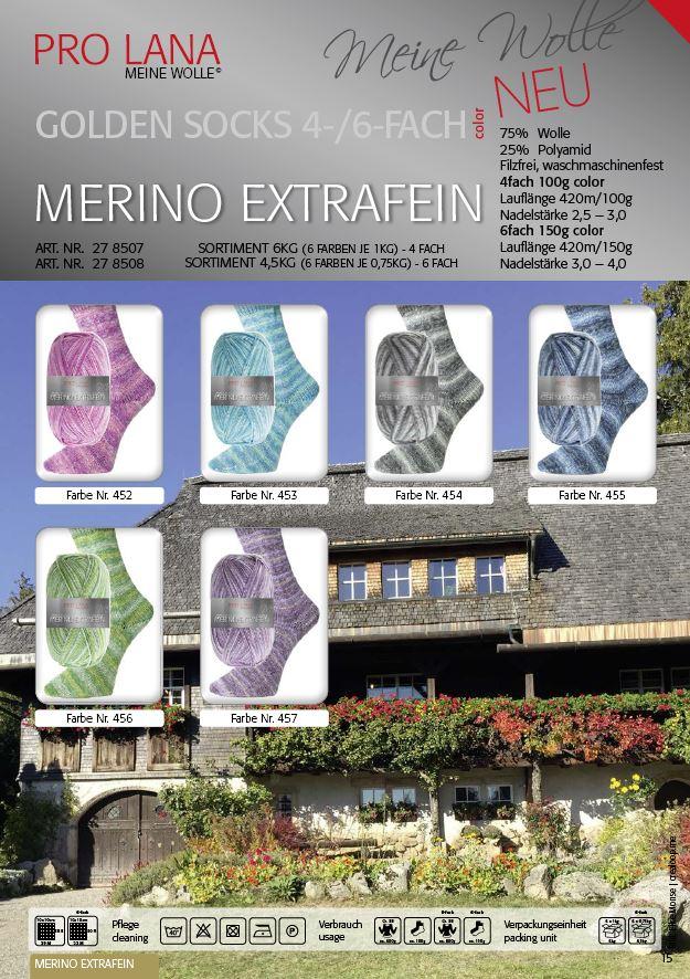 PL Golden Socks MERINO EXTRAFEIN  4f. 100g