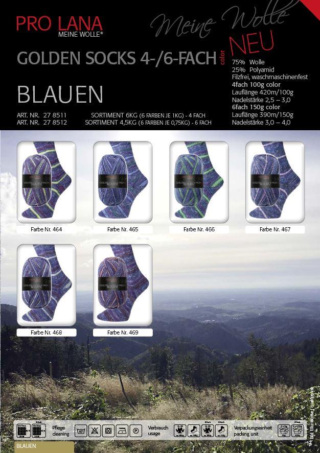 PL Golden Socks BLAUEN  4f. 100g
