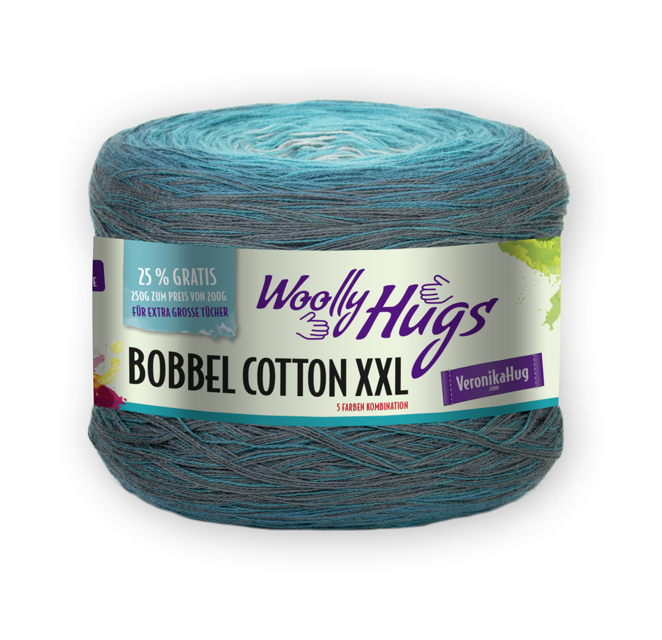 Woolly Hugs BOBBEL cotton XXL 250g 1kg