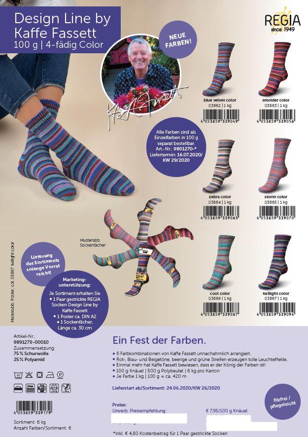 Regia Design Line by Kaffe Fassett 100g. 4f.