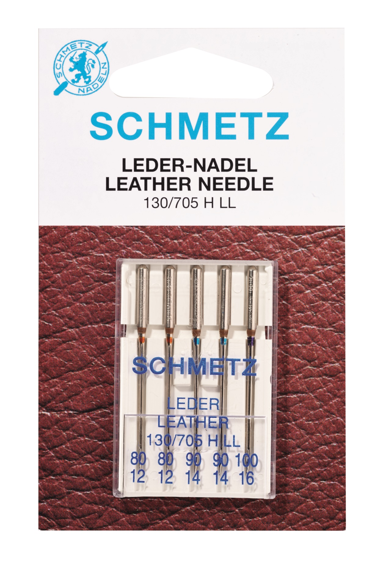 Schmetz Nähmaschinennadeln Leder 80-100