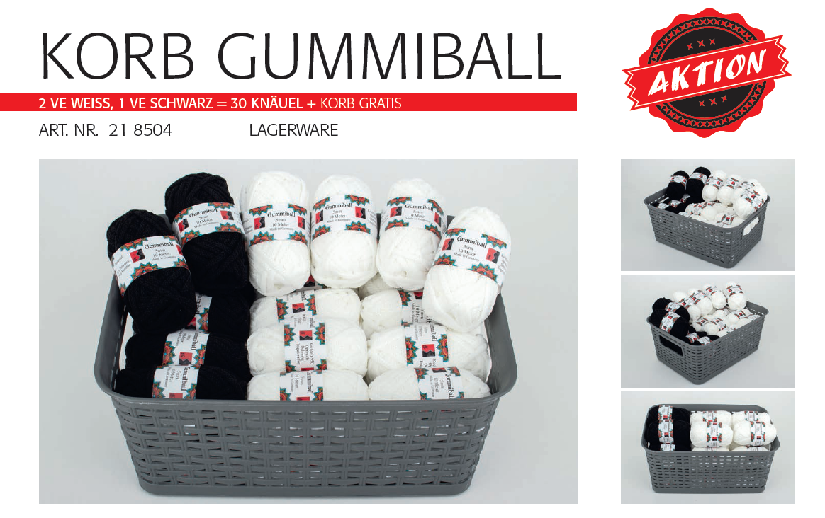 Gummiball 5mm  10m Knäuel  Aktionskorb