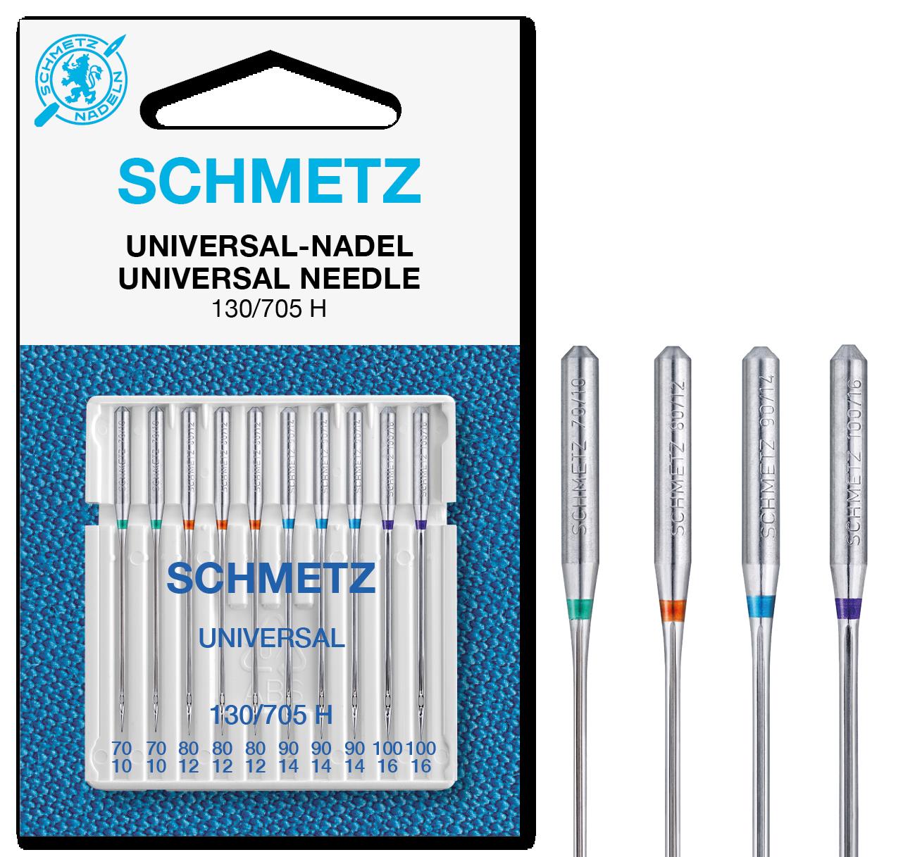 Schmetz Nähmaschinennadeln Universal 70-100 10er P