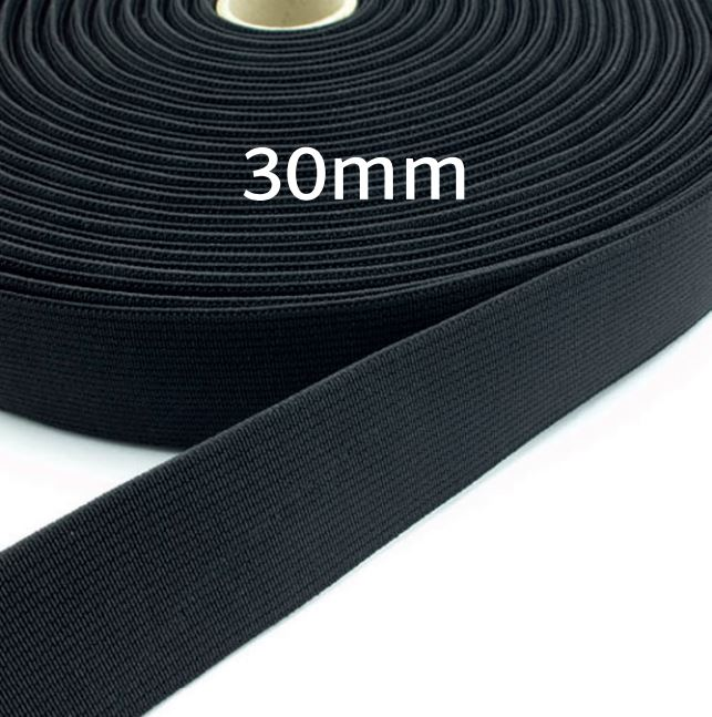 L&K Elastic Band 30mm (Rolle 10m)  Made in Germany
