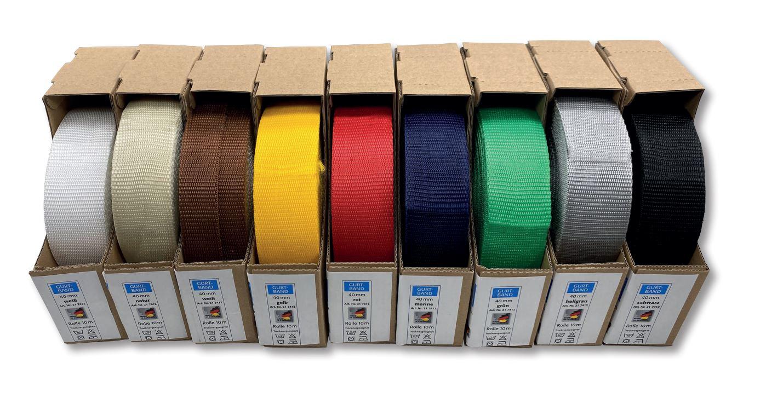 L&K Aktion Gurtband 25mm 9 Farben = 9 Rollen