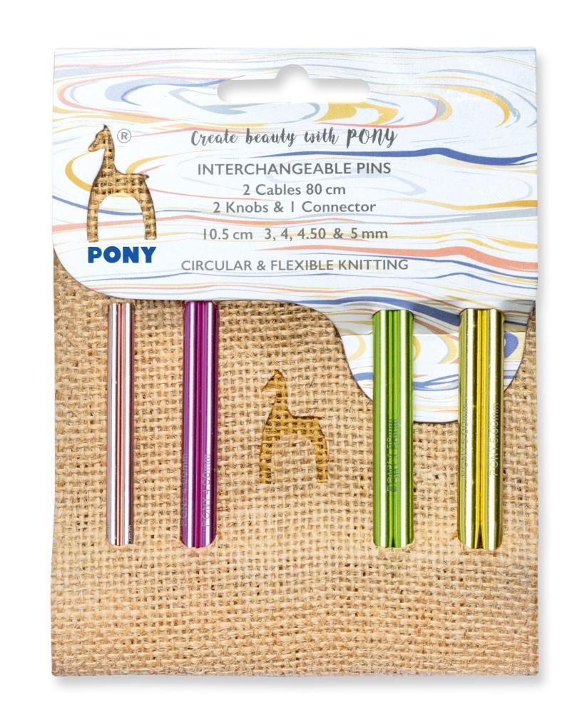 Pony Jute Set Spitzen color 10,5cm lang
