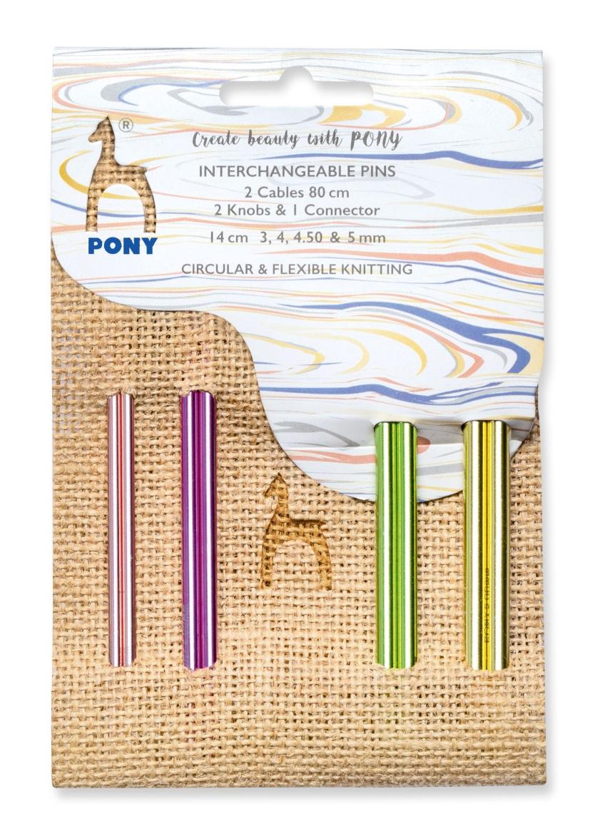 Pony Jute Set Spitzen color 14,0cm lang
