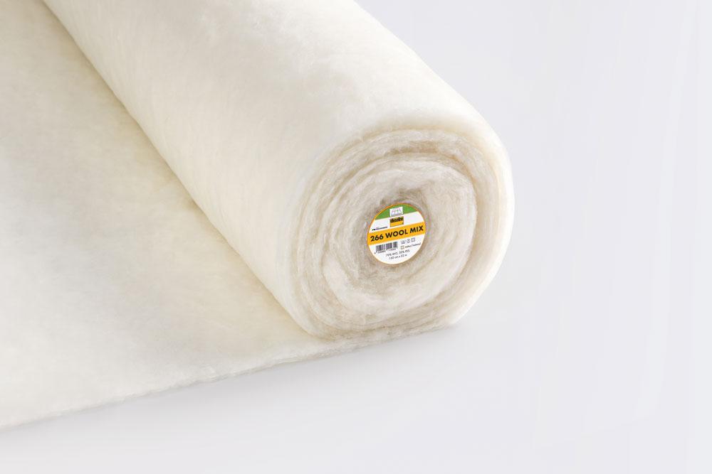 Volumenvliese 266 Wool Mix 70/30, 150cm/ 22m Ro.