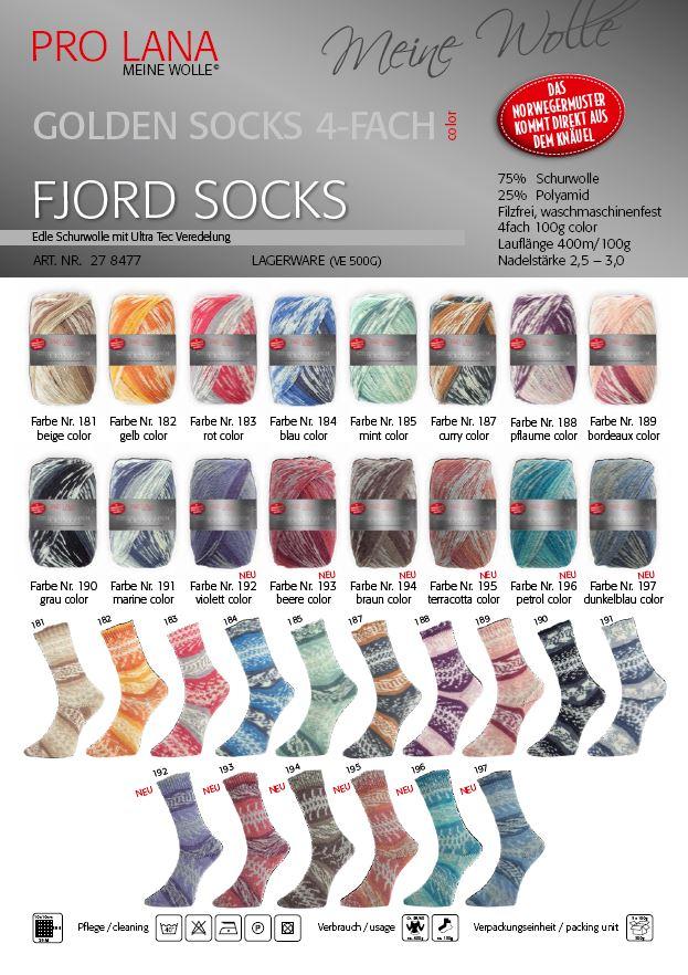 Golden Socks 100g Fjord Socks