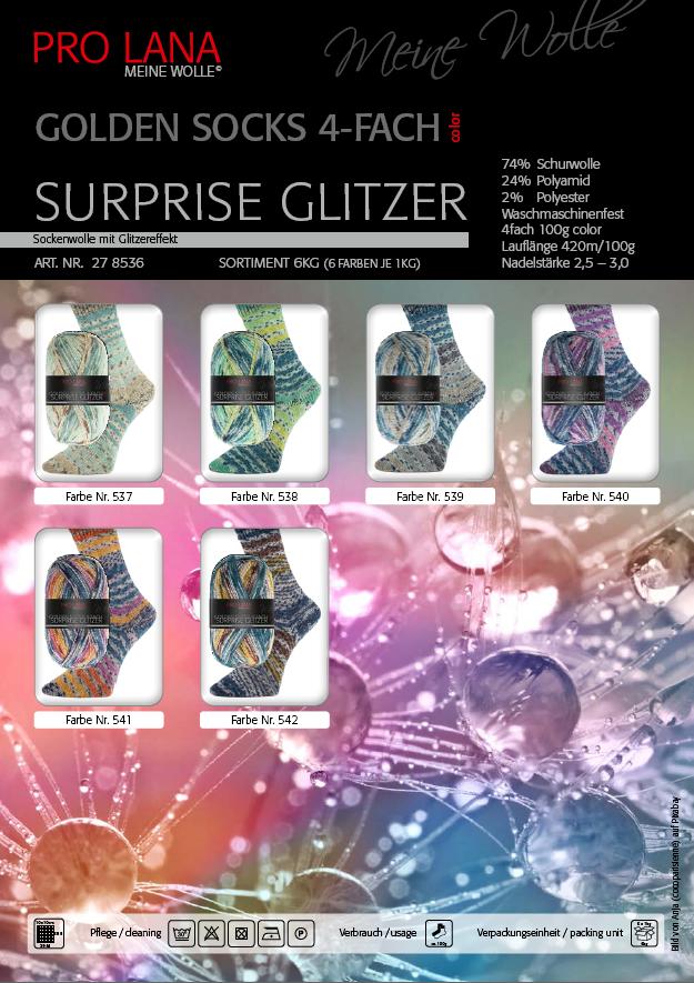 Pro Lana Golden Socks Surprise Glitzer 100g