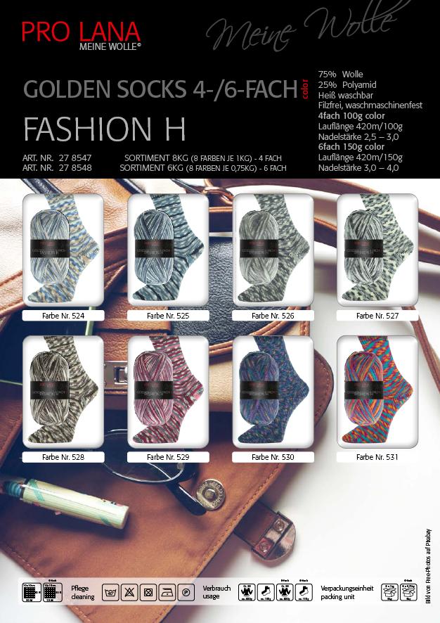 PL Golden Socks  4f.100g Fashion H