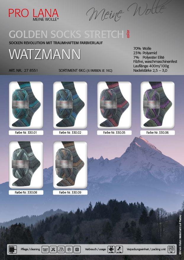 PL Golden Socks 4f.100g Stretch WATZMANN