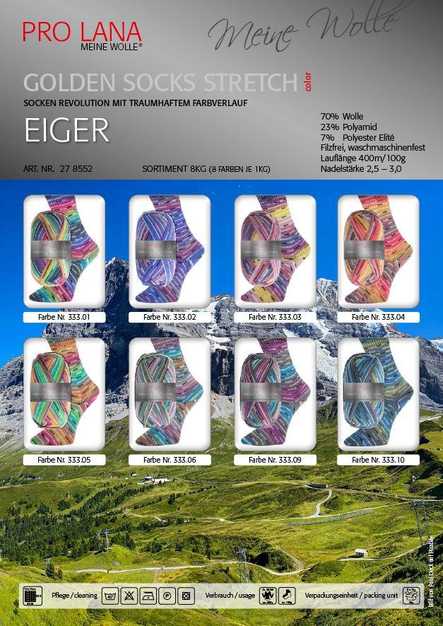 PL Golden Socks 4f.100g Stretch EIGER
