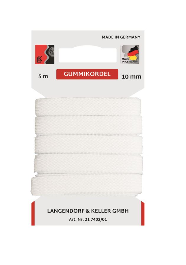 L&K Standard Elastic 10mm SB (5m) Made in Germany